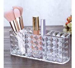 Rangement maquillage 3 compartiments en Acrylique