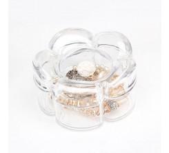 Rangement d'Accessoires en acrylique forme fleur