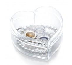 Rangement d'Accessoires en Acrylique Forme Cœur