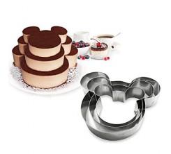 3 Moules De Gâteau en Forme de Mickey Mouse