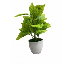 Pot de fleur artificielle en plastique vert claire