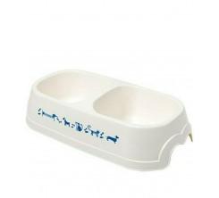 Gamelle pour chat et chiens en plastique 0.5l  Blanc