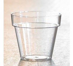 Pot Transparent en Plastique 12cm