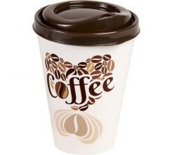 Mug à Café avec Motif en plastique + Couvercle Hega