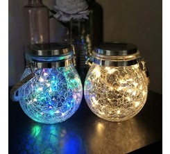 Lampe solaire Bocal LED En Verre