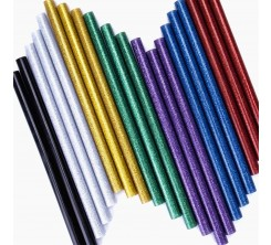 Colle à Chaud Multicolore Brillant Petit Modèle 10 Pièces