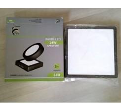 Panel Apparent Noire LED carre 24W SMD 6500K