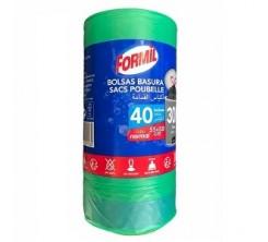 Sac poubelle Formil verde vert 30Lx40pcs 55x58cm
