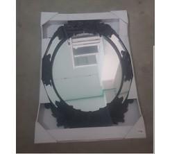 Miroir Décoratif Mural Ovale Noir