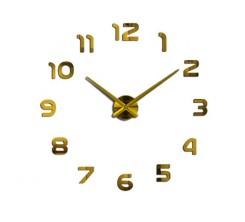 Horloge Adhésif Décoratif Pour Mur Dore