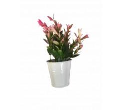 Pot de fleur artificiel en acier 6cm