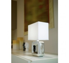 Luminaire de Table Blanc Tempio 1 E14-illu-1x40W