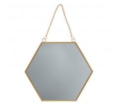 Miroir Hexagonal 24x27 cm