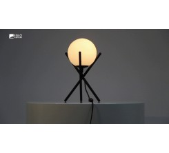 Lampe à Table CASTELLATO Steel Black 1x28W