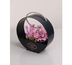 Pot de Fleur Artificiel Décoratif Noir