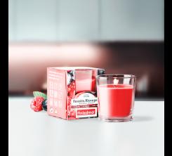 Bougie Parfumée Fruit rouge Rouges pot en verre