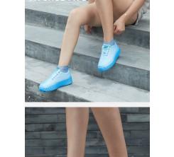Couvre Chaussures en Silicone imperméable Antidérapant Bleu