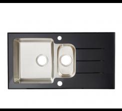 Évier Glass Noir (Droit) 1000x500mm
