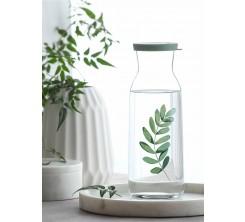 Carafe Fonte en verre transparent avec couvercle
