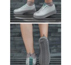 Couvre Chaussures en Silicone imperméable Antidérapant Gris