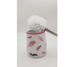 Brosse de Toilette Flamingo en Céramique
