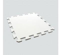 Tapis en Caoutchouc Puzzle Blanc 60X60CM