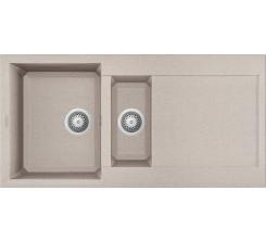 Easy Évier Encastré 100 x 50 - granitek - avoine - égouttoir réversible