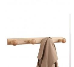 Porte Manteau 4 Crochets en Bois 46cm
