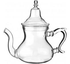 Théière en Verre Design Marocain Classique avec Filtre Intégré 840ML
