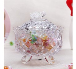 Pots de Bonbons en verre avec Couvercle bol de Bonbons Décoratif