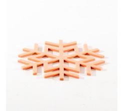 Set de Table Orange pour Assiette Chaude Corail
