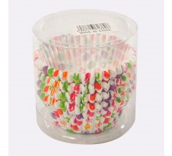 Set de 100 Caissettes Cupcakes et Muffins en Papier Motif Fleur