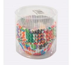 Set de 100 Caissettes Cupcakes et Muffins en Papier Multi Couleur