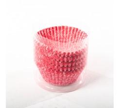 Set DE 100 Caissettes Cupcakes et Muffins en Papier Couleur Rouge