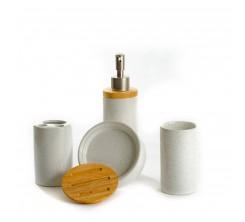 Accessoires  SDB 4 pcs Porcelaine