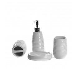Accessoires SDB Porcelaine 4pcs Aspire