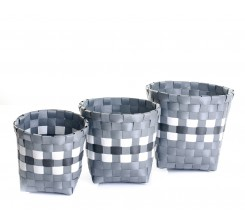 Set de Paniers Rond 3pcs Série GREY