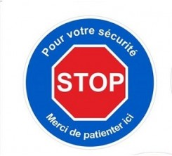 Stickers Autocollant Signalétique - STOP -