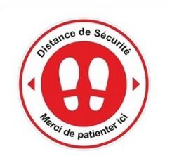 Stickers Autocollant Signalétique - Merci de Patienter Ici -