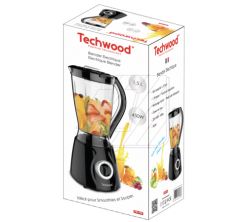Blender Electrique Techwood 1,5L  450W