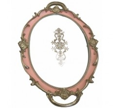Plateau Miroir Oval Rose/Gold 28x40cm