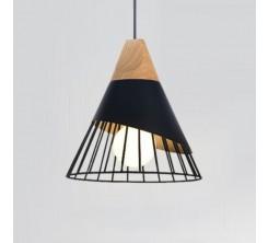 Suspension Design Bois/Fer/Aluminium Vert